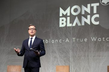 GENEVA, SWITZERLAND - JANUARY 14: Nicolas Baretzki presents the Montblanc Conference at SIHH, at Palexpo on January 14, 2019 in Geneva, Switzerland. (Photo by Julien M. Hekimian/Getty Images For Montblanc )