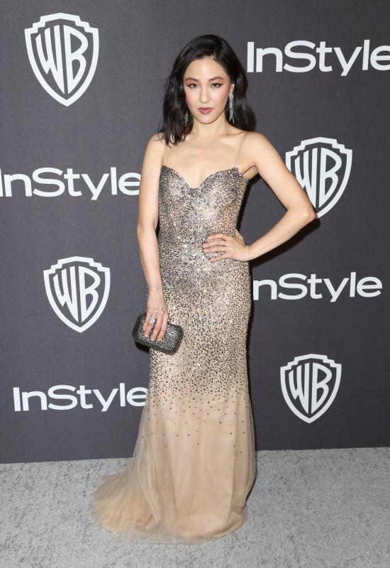 Constance Wu en la red carpet de los Golden Globes 2019 Messika