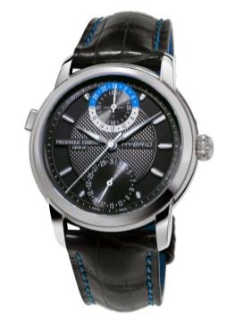 Reloj Frédérique Constant en color negro con detalles plateados