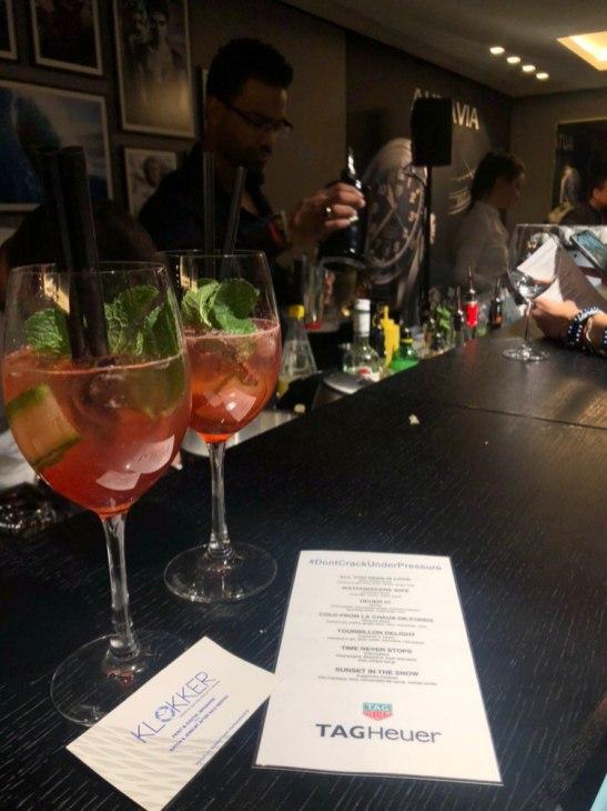 Bebidas en el evento de Tag Heuer