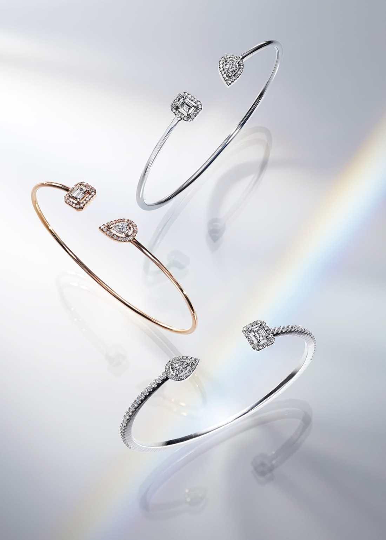 Anillos en color plateado y dorado con diamantes de la colección My Twin