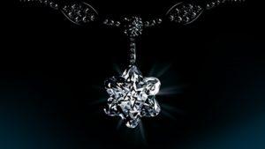 Collar montblanc en forma de flor con diamantes blancos