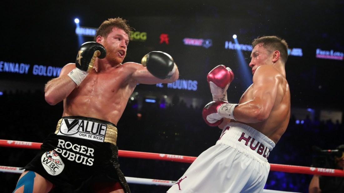 Canelo boxenado contra Golovkin