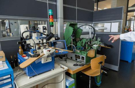 Máquinas para el trabajo de relojería