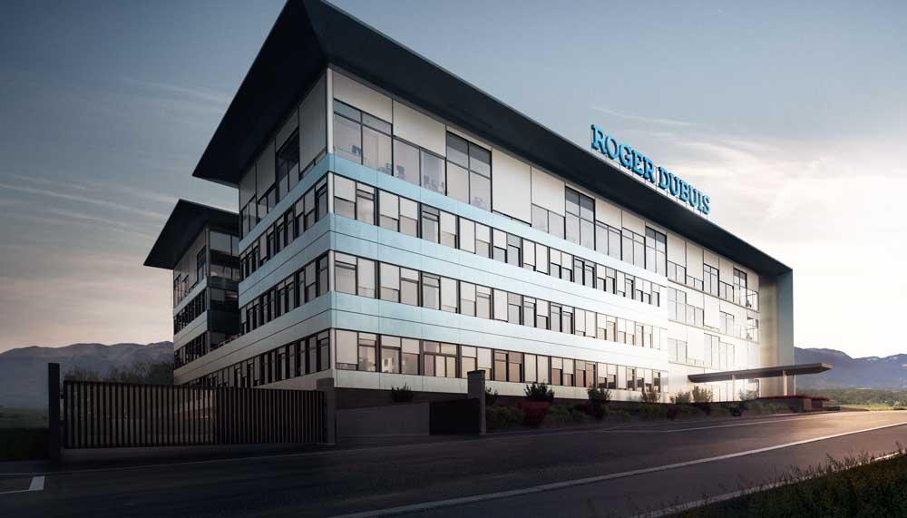 Edificio de cristal Manufacture Roger Dubuis