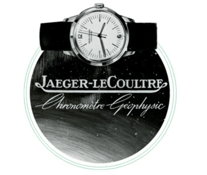 Reloj Chronometre Geophysic con correas negras y caratula plateada con blanco