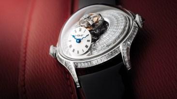 Reloj MB&F mujeres con correas negras y caratula con diamantes