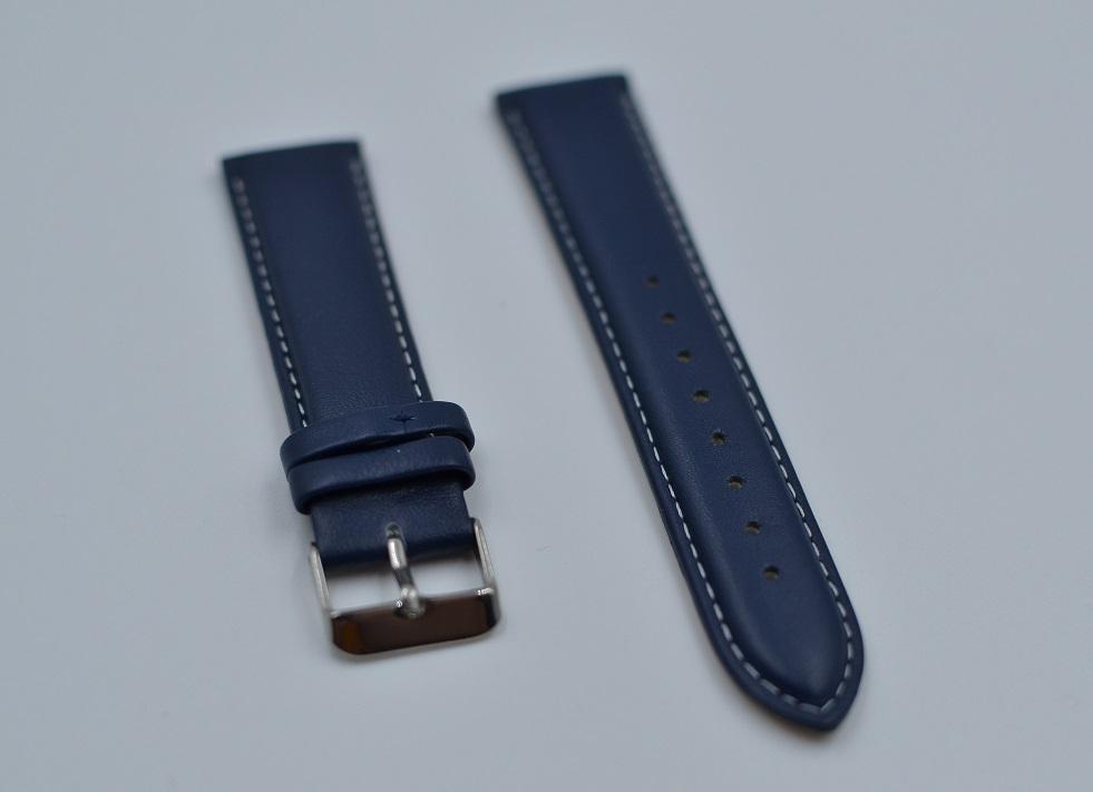 20 mm blå lærreim