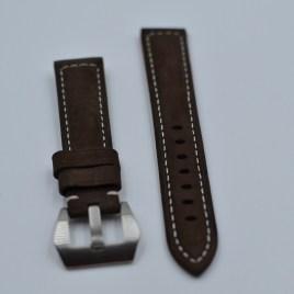 20 mm brun lærreim