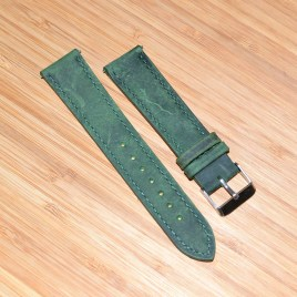 20mm Grønn lærreim