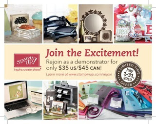 REJOIN STAMPIN' UP! FOR JUST $35