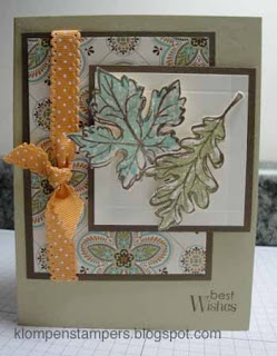 Gently Falling–My Favorite Stamp Set and Favorite Colors