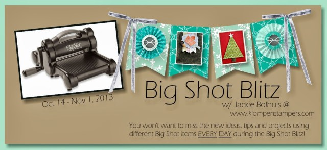 Big Shot Blitz–Day 4: Using INK With Your Embossing Folders