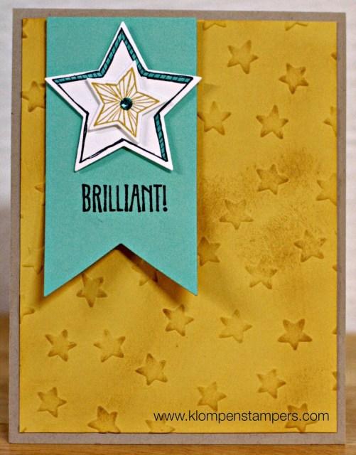 Lucky Stars Embossing Folder: Day 1