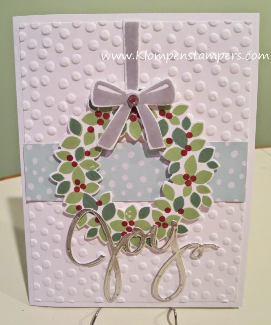 4th Wreath Card (Many More to Come!)