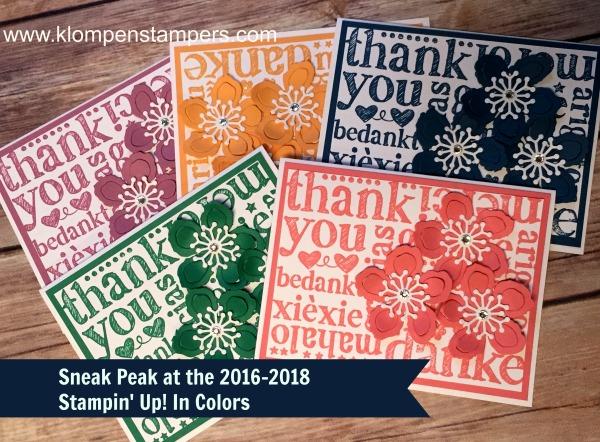 Stampin' Up! In Color SNEAK PEAK