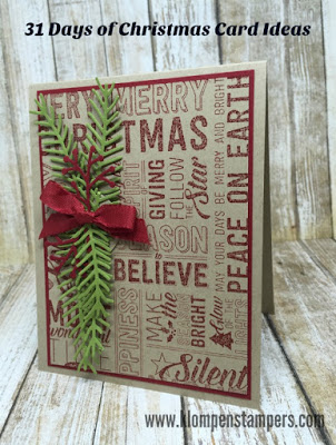 31 Days of Christmas Cards – Day #12