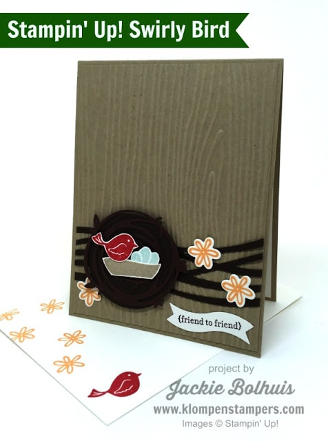 Swirly Bird Card Series:  Card #11