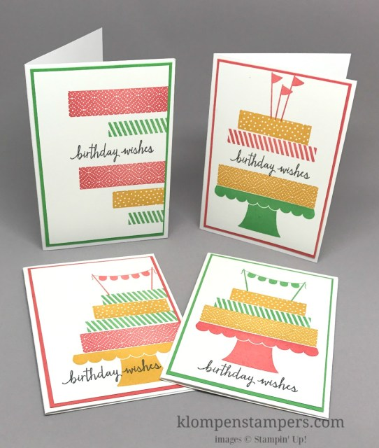 Build a Birthday stamp set makes quick and easy birthday cards. By Jackie Bolhuis