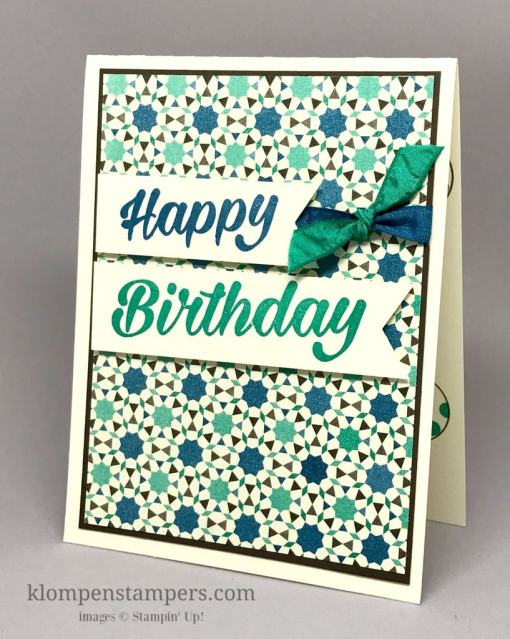 Masculine Birthday Card w/Moroccan Nights DSP