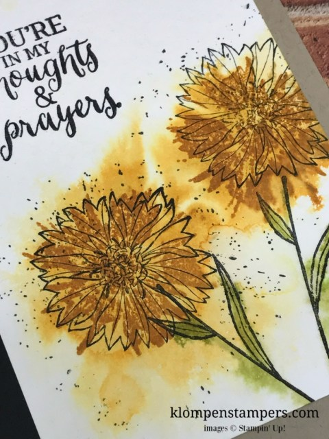It is easy to feel like an artist with the Touches of Texture stamp set. Video shows step by step how to get this look. Card by Jackie Bolhuis