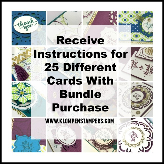 Tutorials for 25 different cards using the Eastern Palace Premier Bundle.