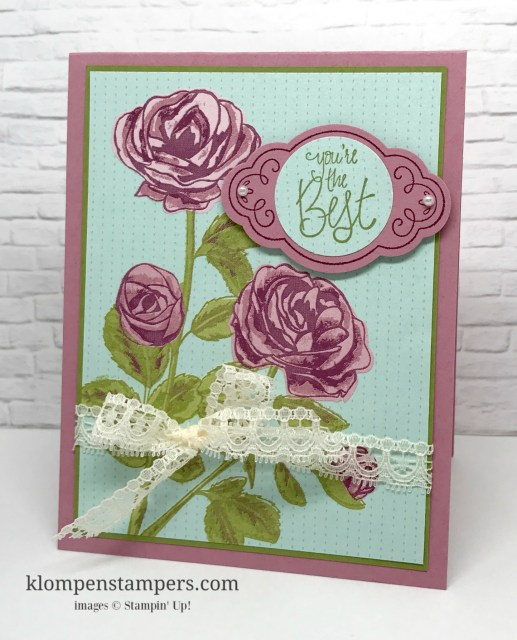 Several different ideas using the Petal Garden DSP from Stampin' Up! Cutting instructions posted on blog.