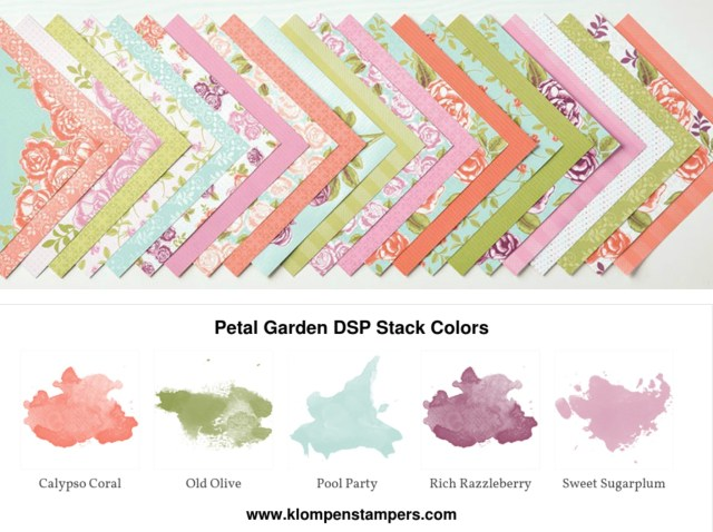 Petal Garden DSP from Stampin' Up! Projects posted on klompenstampers.com