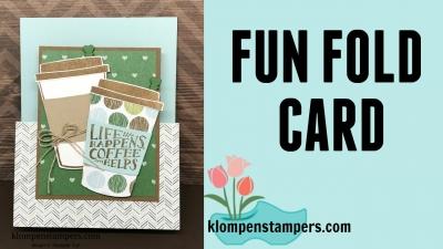 New Video:  Fun Fold Using Coffee Cafe