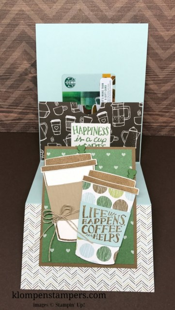 Directions & Video for Fun Fold Card using Stampin' Up! Coffee Cafe