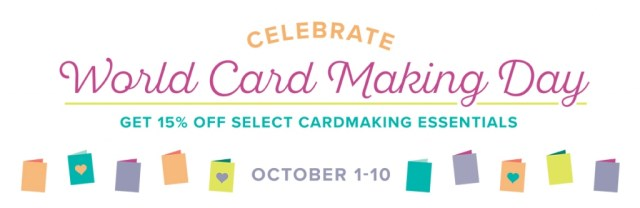 15% off Select Products for World Card Making Day