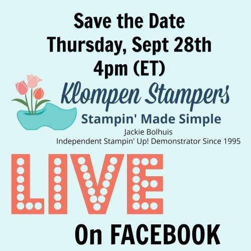Join Me For LIVE Stamping!!!!