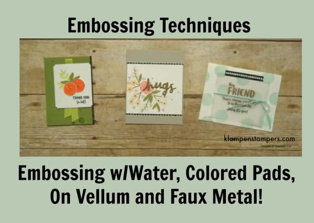 4 Different Embossing Techniques