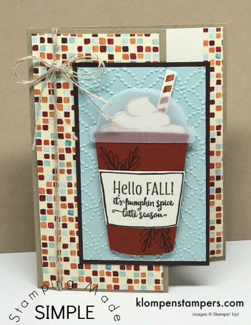 Easy project using Merry Cafe stamp set from Stampin' Up! All details posted.