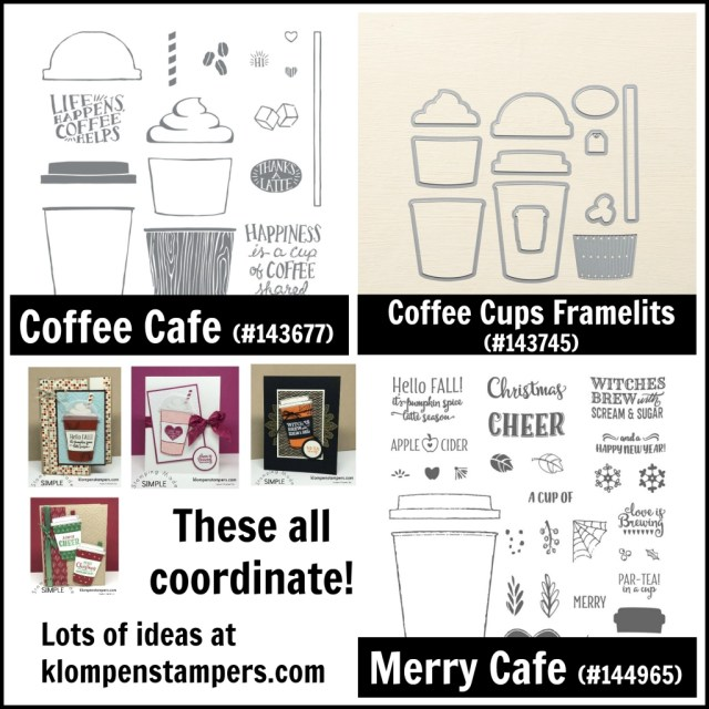 Merry Cafe and Coffee Cafe coordinate together along with the Coffee Cups Framelits