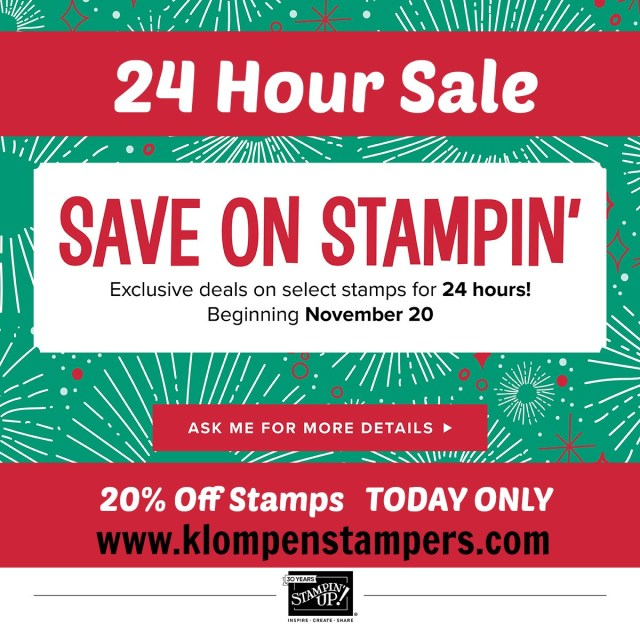 24 Hour Sale on Stampin' Up! Stamps
