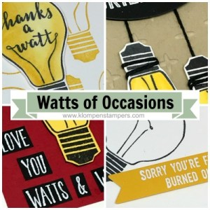 Watts of Occasions Online Stamping Class, Tutorial and Video. For sale or receive free with a purchase.