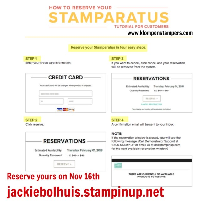 Reserve your Stamparatus through Jackie Bolhuis klompenstampers