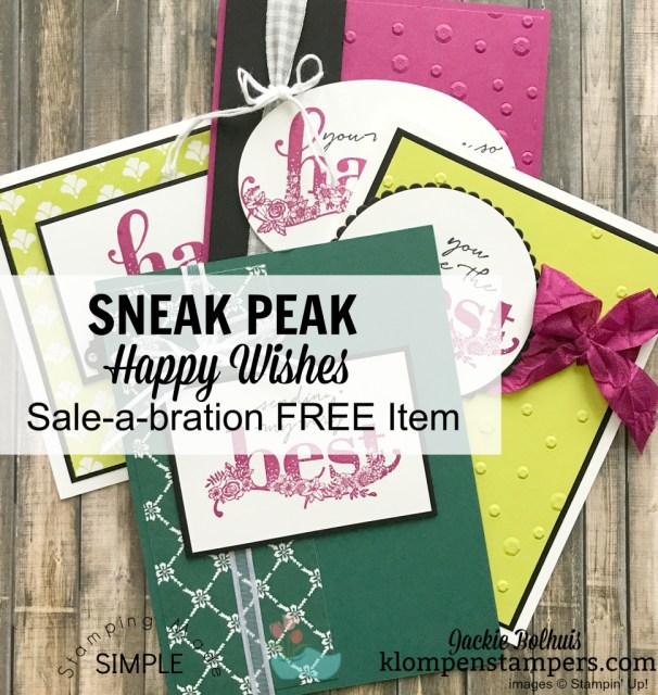 Happy Wishes Sale-a-bration available free with $100 order