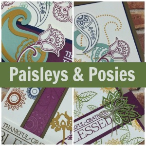 Paisleys and Posies card collection tutorial & video