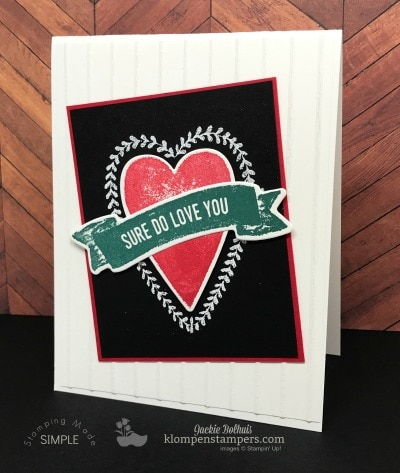 New Stamp Set: Sure Do Love You (Card #1)