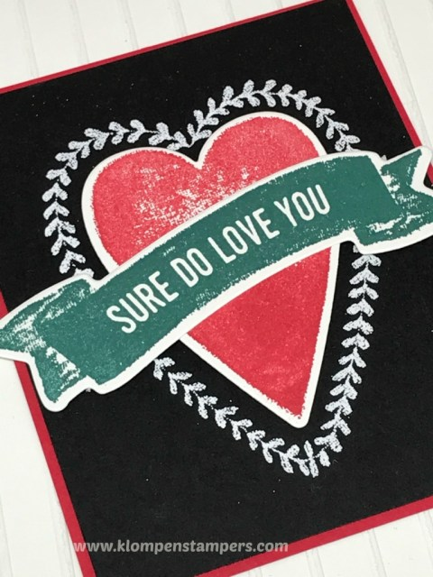 Quick & easy project using the Sure Do Love you stamp set and Lots to Love Box Framelits. All details are posted at klompenstampers.com
