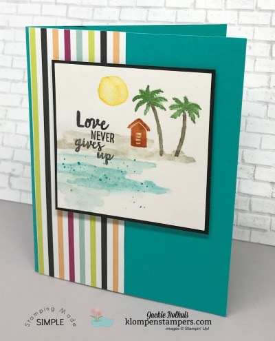 Watercoloring with the Waterfront stamp set is so easy! Add details at klompenstampers.com