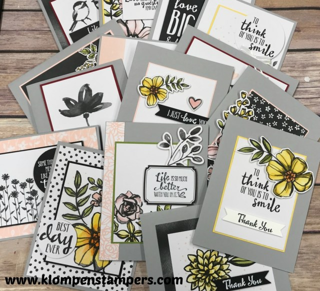 Quick & easy cards using Petal Passion Memories & More card pack. Featured on Facebook Live on 2/19/18