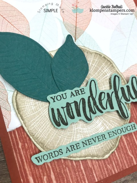 How to make a quick card using Nature's Poem Designer Paper