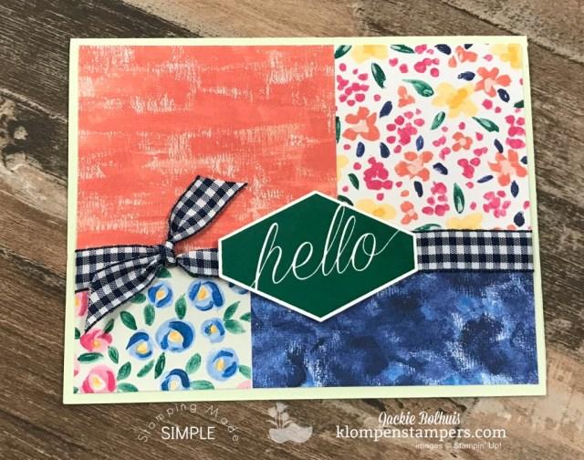 Simple Handmade Card 3 Featuring Garden Impressions Designer Paper