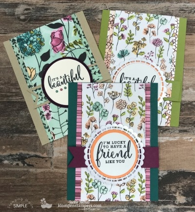 Fun Fold Card Featuring Share What You Love Designer Paper