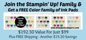 Free Ink Pads from Stampin' Up!