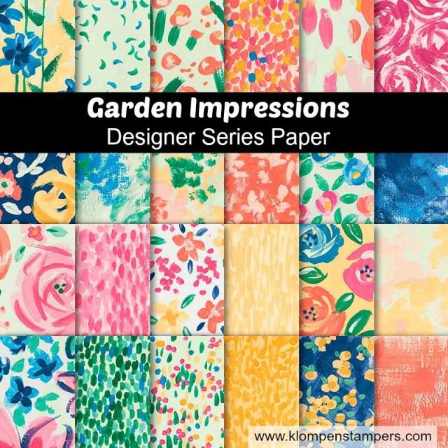 Beautiful Garden Impressions designer paper