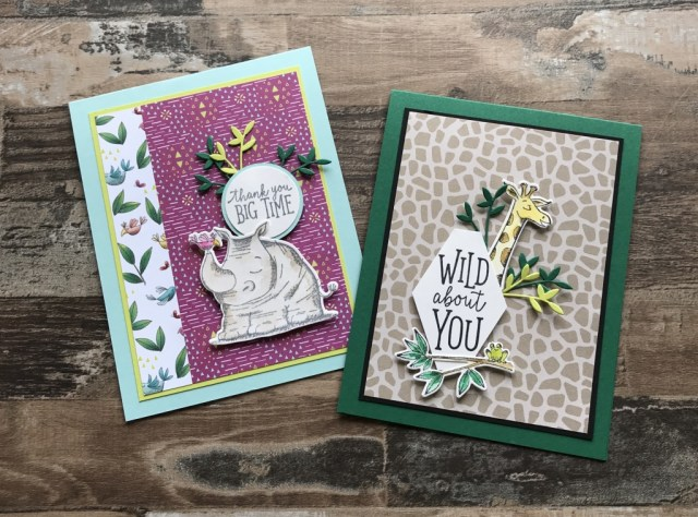 Stampin' Up Animal Expedition and Animal Outing Stamp Set Cards